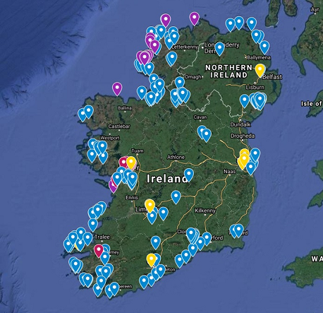 Rock Climbing in Ireland Interactive Map