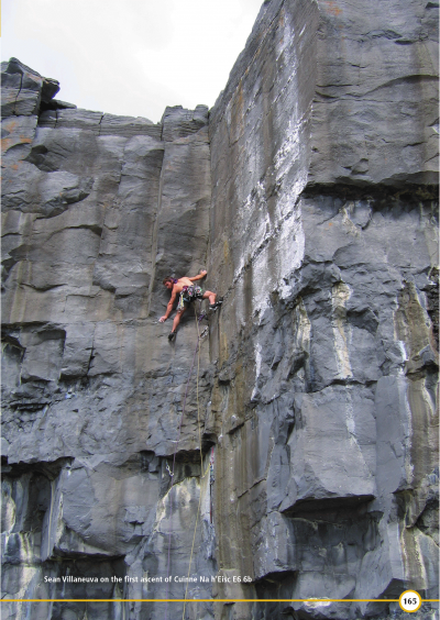 Sean Villaneuva on the first ascent of Cuinne Na h'Eisc E6 6b